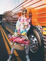 Miley Cyrus goes hard for PRIDE dressed in the hippiest outfit she could find. Picture: Miley Cyrus / Instagram