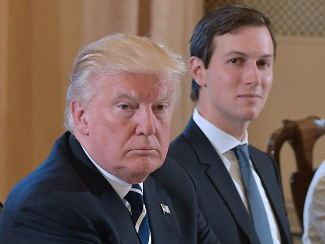 US President Donald Trump (left) and White House senior adviser Jared Kushner are facing fresh conflict of interest concerns. Picture: AFP/Mandel Ngan
