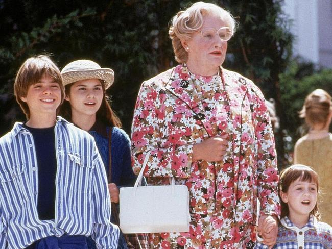 Lisa Jakub, second from left, played Lydia in  <i>Mrs Doubtfire</i>.