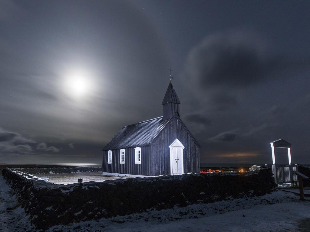 """A bright moon shines on a cemetery in Iceland."" Picture: Theng Sin Chong, Malaysia, Shortlist, Open Low Light, 2016 Sony World Photography Awards"