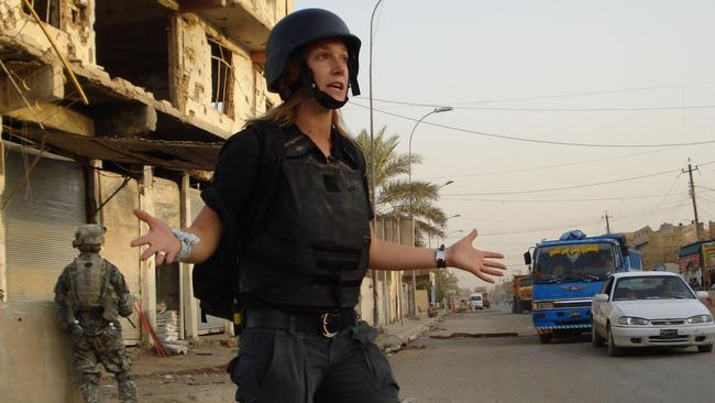 CNN senior correspondent Arwa Damon on assignment. Picture: Twitter
