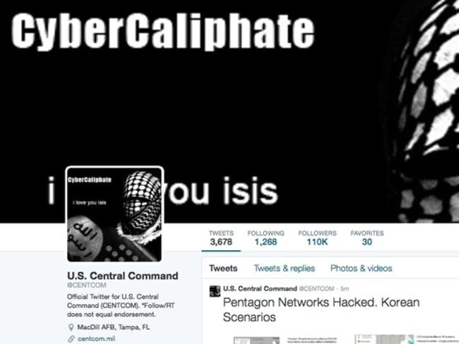 Islamic State representatives appear to have hacked US Central Command's social media accounts.