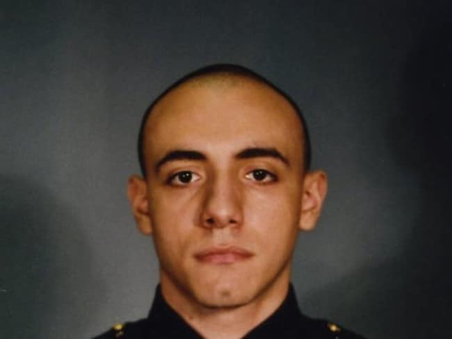 Shot down on duty ... Officer Melvin Santiago was shot in the head while still in his police vehicle as he and his partner responded to an armed robbery call.