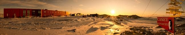 Panoramic view of Casey research station Picture: Gordon Tait/Australian Antarctic Division