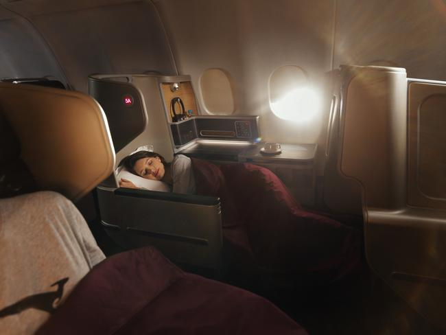 Business suite in the new Qantas Dreamliner