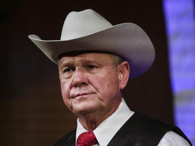 Former Alabama chief justice Roy Moore is heading into a senate election next week under a cloud of sexual misconduct allegations. Picture: AP Photo/Brynn Anderson
