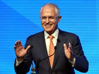 (FILES) A file photo taken on June 26, 2016, shows Australian Prime Minister Malcolm Turnbull addressing the Coalition government's campaign launch in Sydney. A millionaire banker and businessman with a campaign slogan out of an American sitcom, Malcolm Turnbull has been criticised as out-of-touch with ordinary Australians, but insists he is a steady hand on the economy. / AFP PHOTO / SAEED KHAN