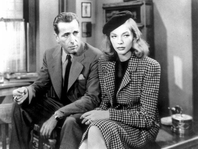 Humphrey Bogart and Lauren Bacall in 1946 film 'The Big Sleep'.