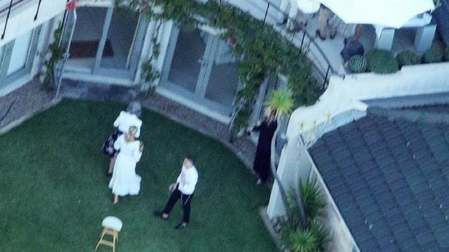 The couple held the ceremony at a house in Palm Beach, with a few friends and family. Picture: Jamie Fawcett