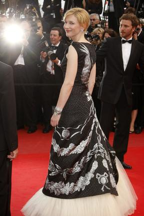 Cate Blanchett arrives for the premiere of the film 'Robin Hood' at the 63rd international film festival 2010. Picture: AP