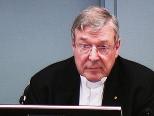 Cardinal George Pell appears at the Royal Commission yesterday.
