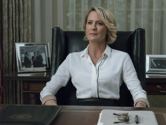 House Of Cards star Robin Wright as Claire Underwood.