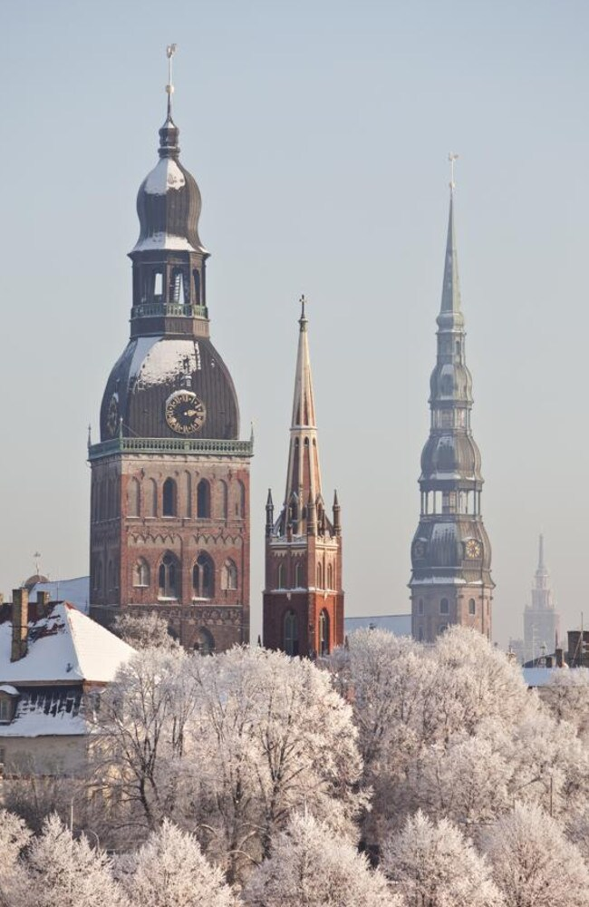 Spain, not Latvia! ... Riga Towers look lovely in winter, if that's where you want to go.