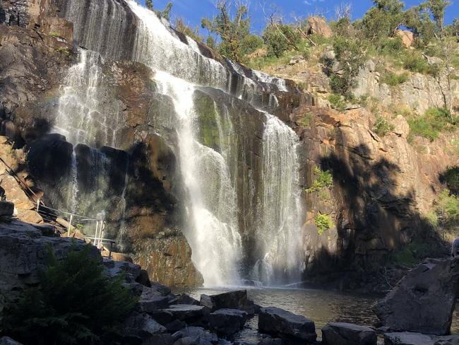 Victoria Parks said there are signs at MacKenzie Falls advising people not to swim. Picture: AAP Image/Pablo Mena