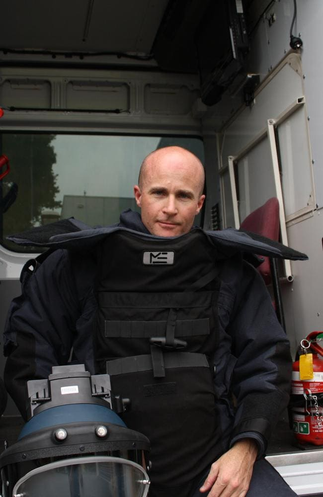 Acting Senior Sergeant Mick Gardiner risks his life on the job regularly.