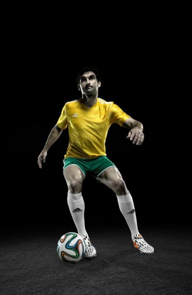 Mile has joined the likes of Messi, Suarez and Gerrard as part of a global campaign to launch Adidas' Battle Pack boots before the 2014 FIFA World Cup in Brazil.