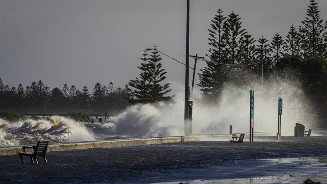 The beach at the corner of Esplanade and Millers Rd in Altona today: Picture: Eden O'Farrell
