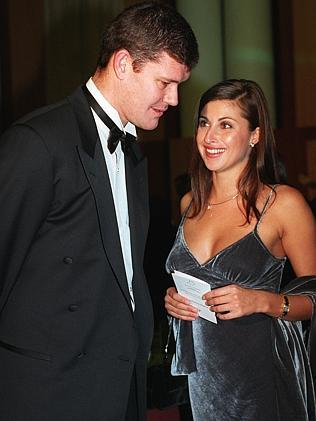 James Packer and girlfriend Jodhi Meares in 1999.
