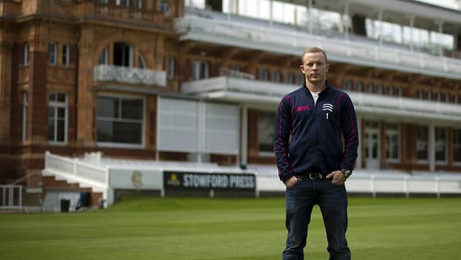 Australian batsman Chris Rogers at Lord's cricket ground, after he was named in Australia's 16-man squad for the Ashes tour to England. Picture: Carl Court