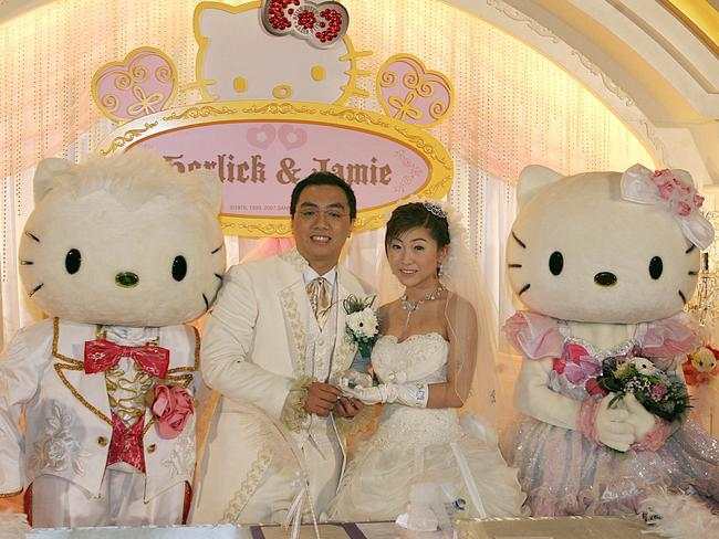 Hello Kitty and her friend Dear Daniel. Pic: AFP.