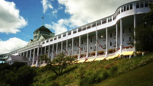 The Grand Hotel on Mackinac Island, USA.