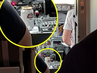 STELLA CAN IN PLANE COCKPIT