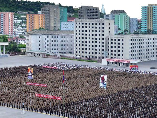 Experts have warned there is no viable military option when it comes to dealing with North Korea. Picture: AFP/ KCNA