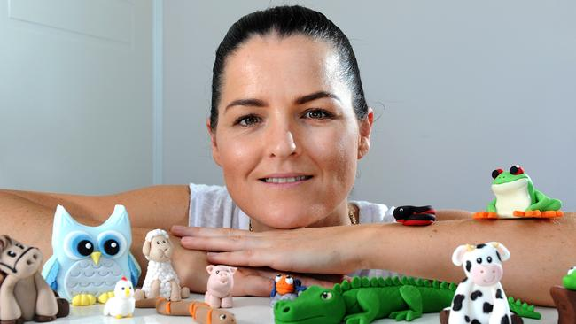 Shelley Miller has made a successful business from making edible decorations to put on cakes. Picture: John Gass