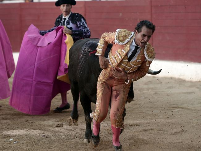 Spanish matador Ivan Fandino died during a bullfight in Aire sur Adour, southwestern France. Picture: AFP/Iroz Gaizka