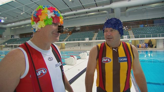 Jokes ... Danny Frawley and Jason Dunstall on After The Game.