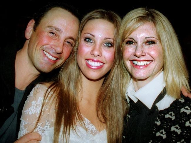 Matt Lattanzi and Olivia Newton John with daughter Chloe Rose. Picture: Supplied