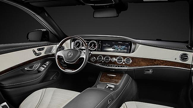 The windscreen of the Mercedes-Benz S-Class limousine has two cameras that scan the road ahead looking for potholes.