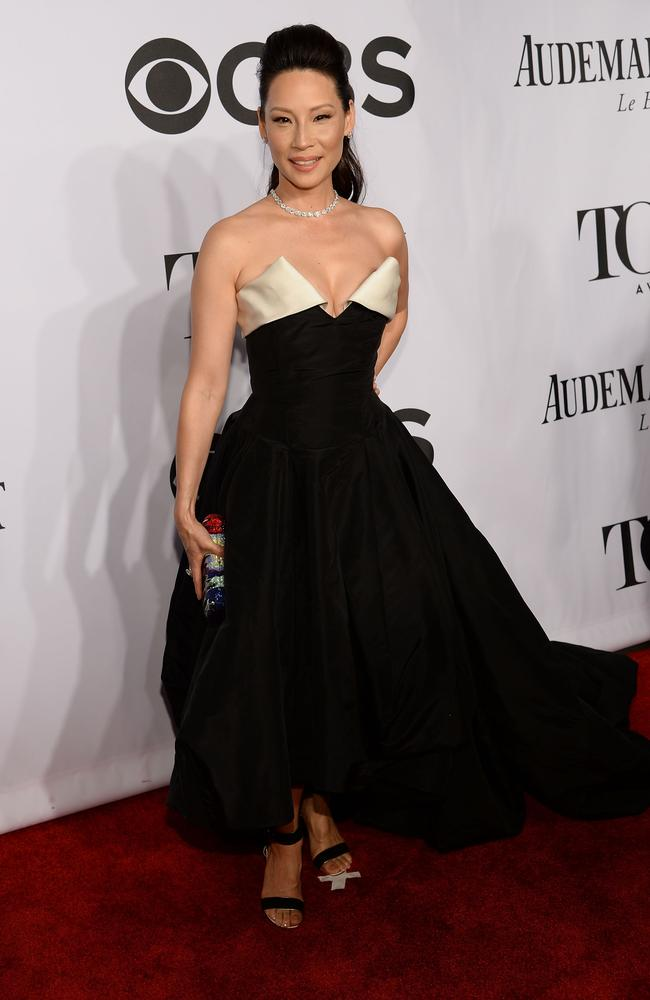Actress Lucy Liu attends the 68th Annual Tony Awards.