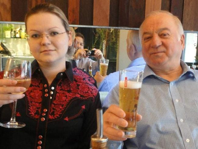 Ex-Russian spy Sergei Skripal and daughter Yulia. Picture: Supplied