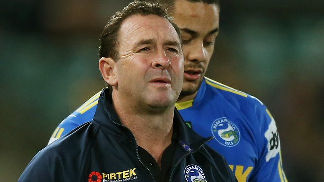 Ricky Stuart shows frustration at his team. Picture: Mark Evans