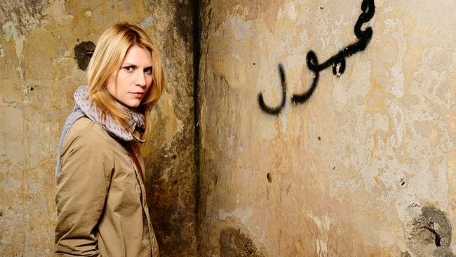 Actress Claire Danes in a scene from 'Homeland'.