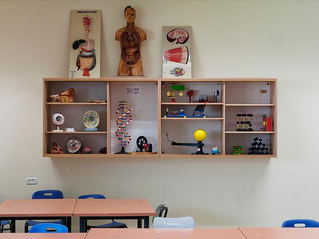 A science classroom built to withstand rocket attacks. Sderot, Israel. Picture: Adam Reynolds
