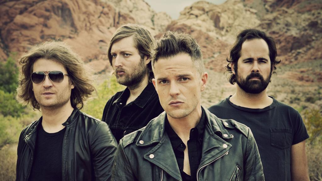 Original line-up: the Killers as a four piece in 2012. Mark Stoermer far left. Picture: Getty Images
