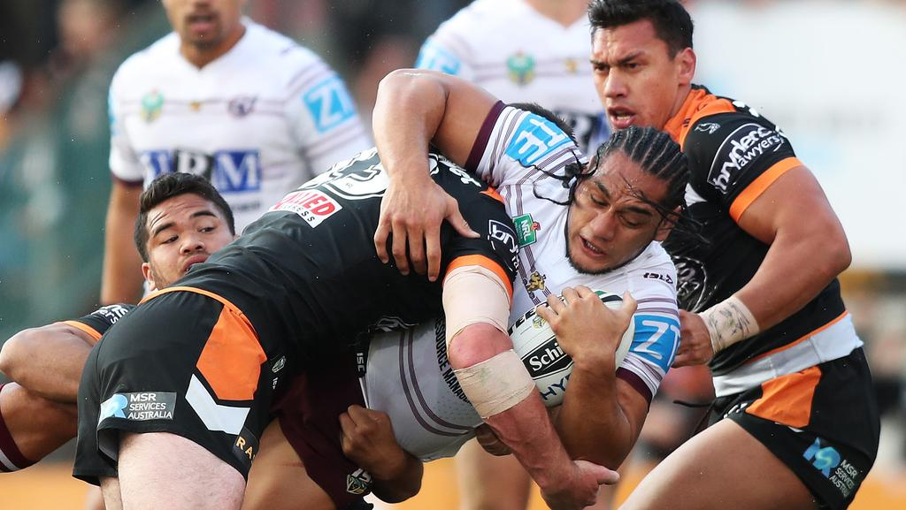Manly's Martin Taupau has avoided a suspension. Picture: Brett Costello
