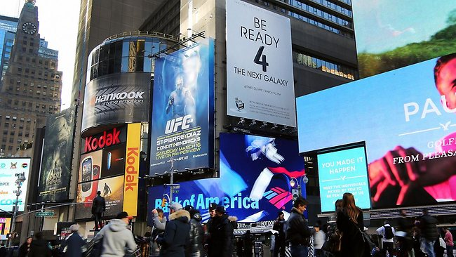 Samsung Galaxy S 4 launch, New York, Times Square
