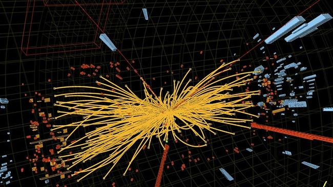 A graphic of a proton-proton collision (Photo: AFP PHOTO / CERN)