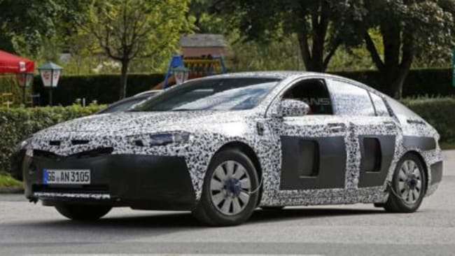 Early spy photos of the car that will become the 2018 Holden Commodore. Picture: WorldCarFans.com.