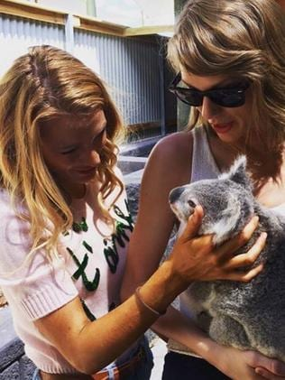 Taylor Swift shares a snap with Blake Lively. Picture: Instagram