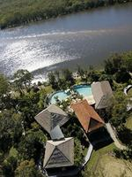 The impressive Makepeace Island resort on Noosa River, owned by businessman Sir Richard Branson.