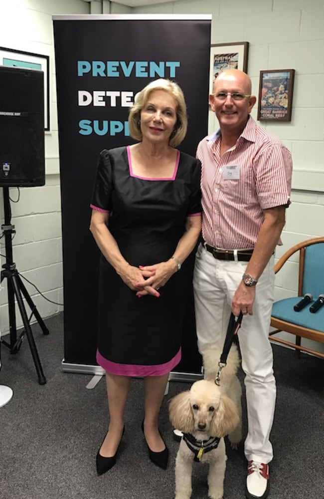 Ita Buttrose with Greg & Pep, at the Dementia/Alzheimers Awareness Meeting in QLD Australia.