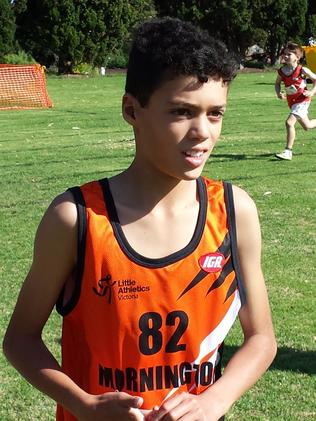 Louis Tate at a Little Athletics event.