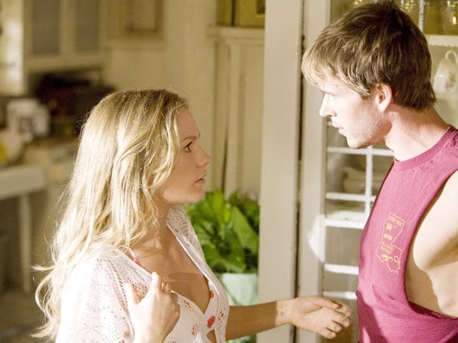 That would be weird ... Aussie Ryan Kwanten, who plays Anna Paquin's brother Jason Stackhouse on True Blood, is probably one of the only regulars she hasn't been with.