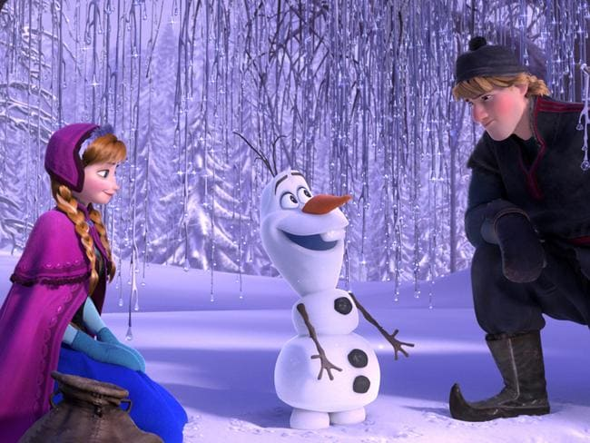 Poor Anna, Olaf and Kristoff. Picture: Disney