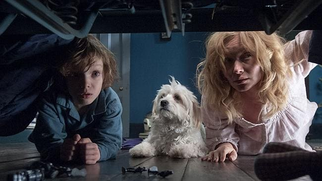 Noah Wiseman and Essie Davis search for the truth in  <i>The Babadook</i>.