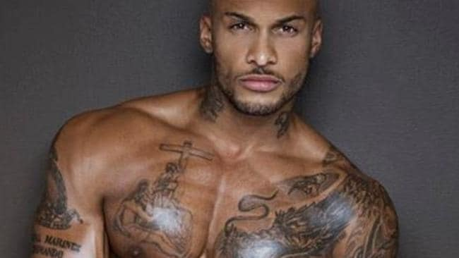 Model David McIntosh is heavily tattooed. Picture: Instagram